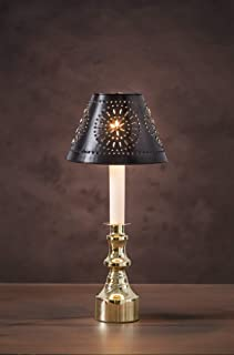 Cleveland Vintage Lighting 30009025 Mini Metal Lamp Shade: black with Punched Pattern, Black, 5.5x3.75