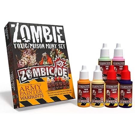 The Army Painter | Warpaints Zombicide Toxic/Prison Set | Lot de Peintures pour les Extensions Toxic City Mall et Prison Outbreak du Jeu de Société Zombicide