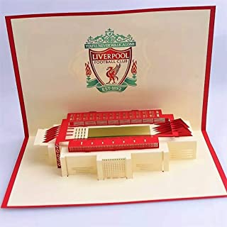 BC Worldwide Ltd Pop-up ticket 3D Handmade greeting card Liverpool Football Birthday Wedding anniversary Christmas Valenti...