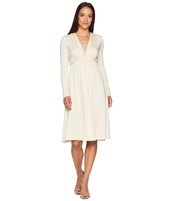 Rachel Pally Long Sleeve Caftan (Cream) Women's Dress