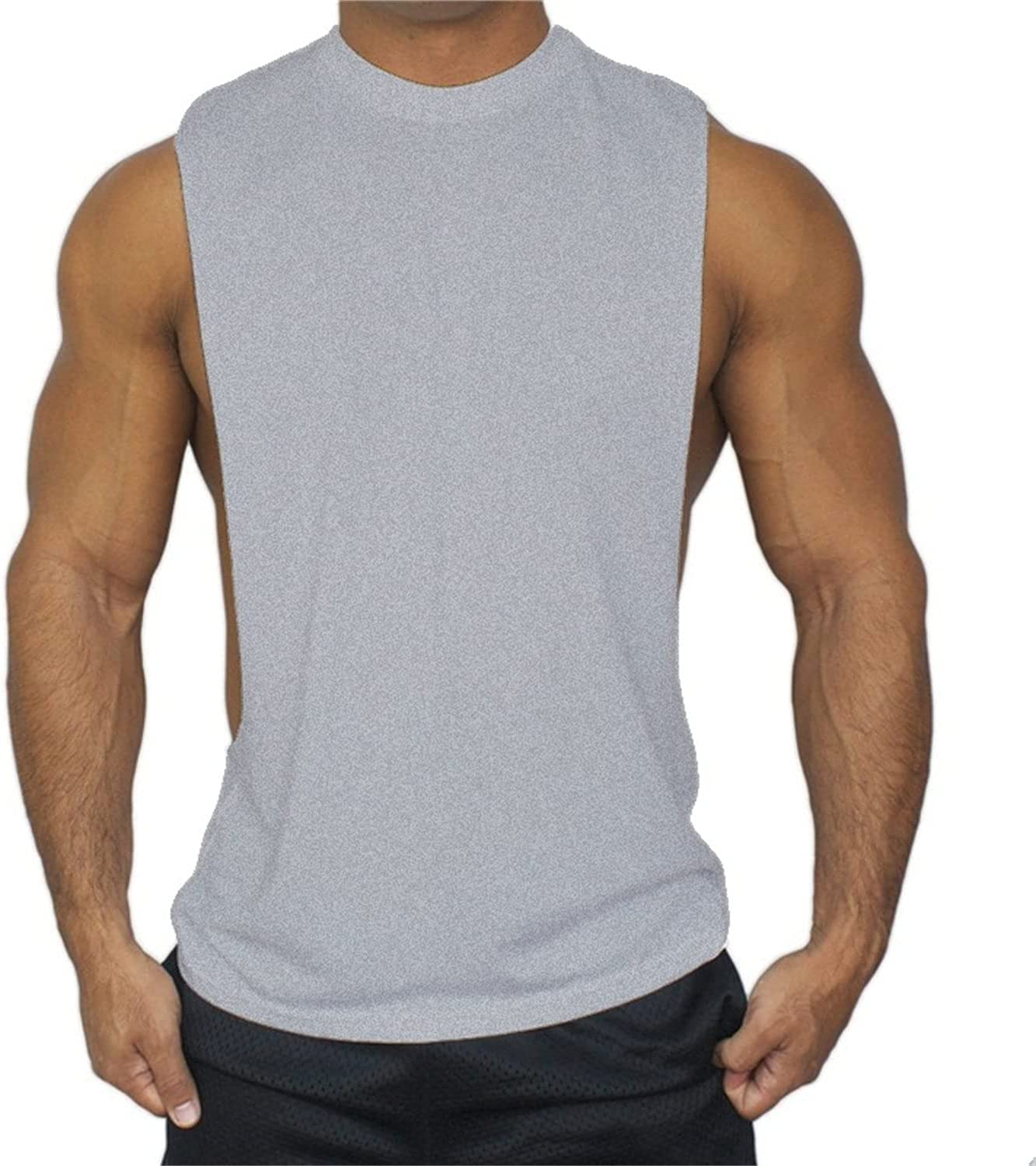 Men's Muscle Bodybuilding Workout Sleeveless Quick [Alternative dealer] Tees Fitt Dry Popular products