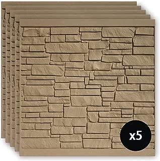 SimTek 6 ft. x 6 ft. EcoStone Brown Composite Fence Panel Pack