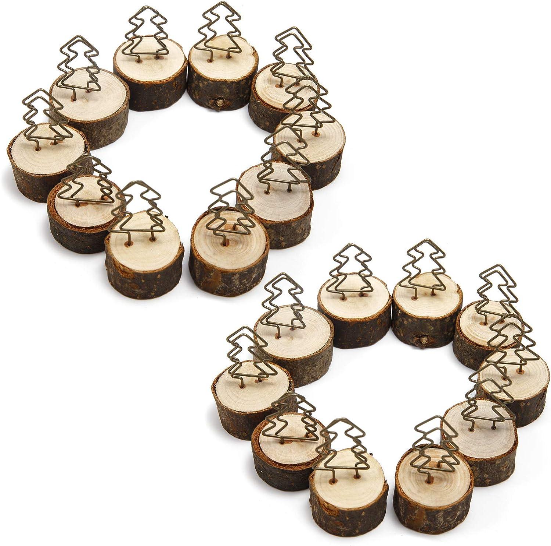 ToPicks ideale come segnaposto per matrimoni segnaposto rustico con base in vero legno ufficio decorazione da tavolo