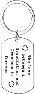 Grandpa Gifts The Love Between A Grandfather And Grandson Granddaughter Is Forever Keychain For Men