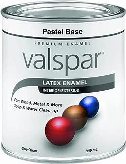 Valspar 65101 Premium Interior/Exterior Latex Enamel, 1-Quart, Pastel Base