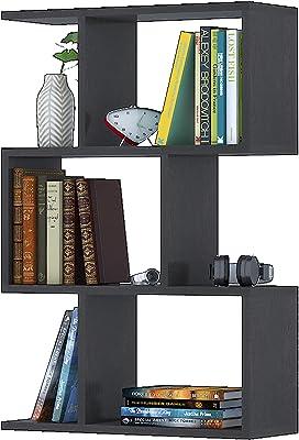 Klaxon Engineered Wood, Matt Finish Omega Book Shelf/Wall Shelf and Storage Unit | Display Unit (Brown, Set of 1)