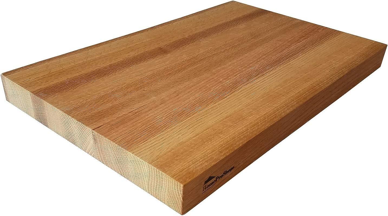 HomeProShops Wood Butcher Block Cutting Board 1 1 2 X 12 X 16 Solid Red Oak W Mineral Oil Applied Reversible