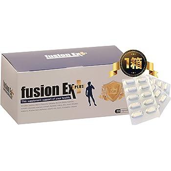 フュージョンEXプラス 1箱 1ヶ月分 男の自信を増大させろ 国内トップクラスの増大成分を贅沢配合  fusionEX plus