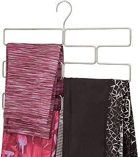 mDesign Modern Metal Closet Rod Hanging Accessory Storage Organizer Rack for Scarves, Ties, Yoga Pants, Leggings, Tank Tops - Snag Free, Geometric Design, 8 Sections - Satin