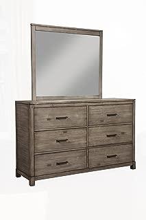 Alpine Furniture Sydney 6 Drawer Dresser Weathered Grey