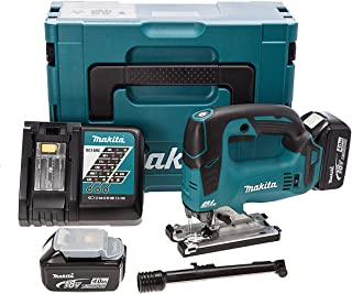 Makita DJV182RMJ 18V Li-Ion LXT Brushless Jigsaw Complete with 2 x 4.0 Ah Li-Ion Batteries and Charger Supplied in A Makpa...
