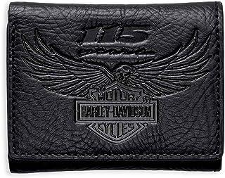 Black NP5758L-BLACK Caddy Wallet Harley-Davidson Men/'s Soft Napa Leather C.C