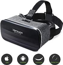 HAMSWAN Occhiali VR Compatibile con Tutti Gli Smartphone da 4,7 a 6,0 Pollici-Regalo Perfetto di Natale e di Compleanno (Nero & Grigio)