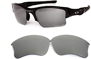 Galaxy Replacement lenses For Oakley Flak Jacket XLJ Polarized Titanium 100% UVAB