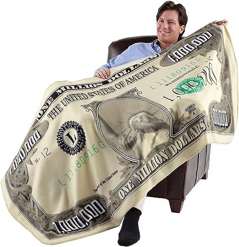 "popular FLEECE new arrival THROW BLANKET Milion Dolar (71"" X 2021 35"") outlet online sale"