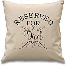 Reserved for Dad ~ Pillow Covers Case ~ 45cm X 45cm ~ Natural