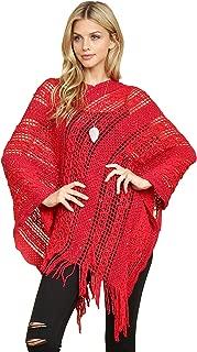 Bohemian Sequin Glitter Shawl Wrap Poncho - Light Kimono Cardigan Cover, Classic Open Knit Crochet Sweater Pullover Cape