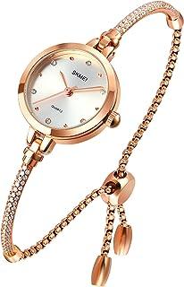 TOOCAT Women Analog Quartz Watch Bling Rose Gold Watches Mosaic with Glitter Diamonds Bracelet Waterproof Quartz Wristwatc...