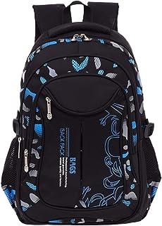 MQJ Impressions Élémentaire High School Sac À Dos Bookbag Pour Les Garçons Adolescents Voyage Rucksack Daypack),Bleu,S (26...
