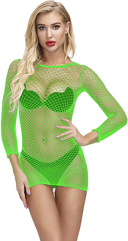 Women Fishnet Babydoll Lingerie Chemise Nightwear Mini Teddy Dress Fishnet Lingerie Bodysuit Chemises Dress