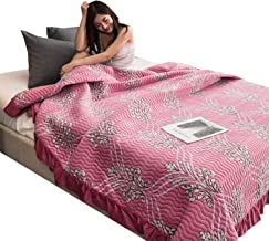 Pink Printed Crystal Velvet Bedspreads, Warm Quilted Quilt, Multi-Functional Comfort Blanket for All Season, Throw for Bed...