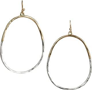 SPUNKYsoul Oval Hoop 2 Toned Earrings for Women