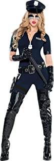 AMSCAN Stop Traffic Sexy Cop Halloween Costume for Women, Medium, with Included Accessories