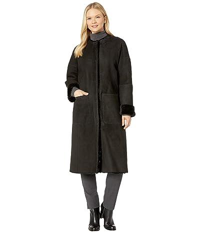 UGG Remy Reversible Shearling Coat (Black) Women
