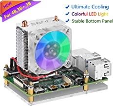 Raspberry Pi Fan, iUniker RGB Cooling Fan Raspberry Pi Ice Tower Cooler, Raspberry Pi Cooling Fan, Raspberry Pi Heatsink Fan for Raspberry Pi 4b/ 3b+/ 3b