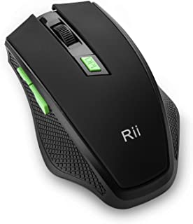 Rii RM103 2.4G Wireless Optical Mouse with 1000 1200 1600 DPI, 6 Buttons,USB Plug & Play,Innovative Design for Notebook, P...