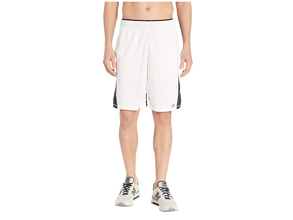 New Balance Tenacity Knit Shorts (White) Men