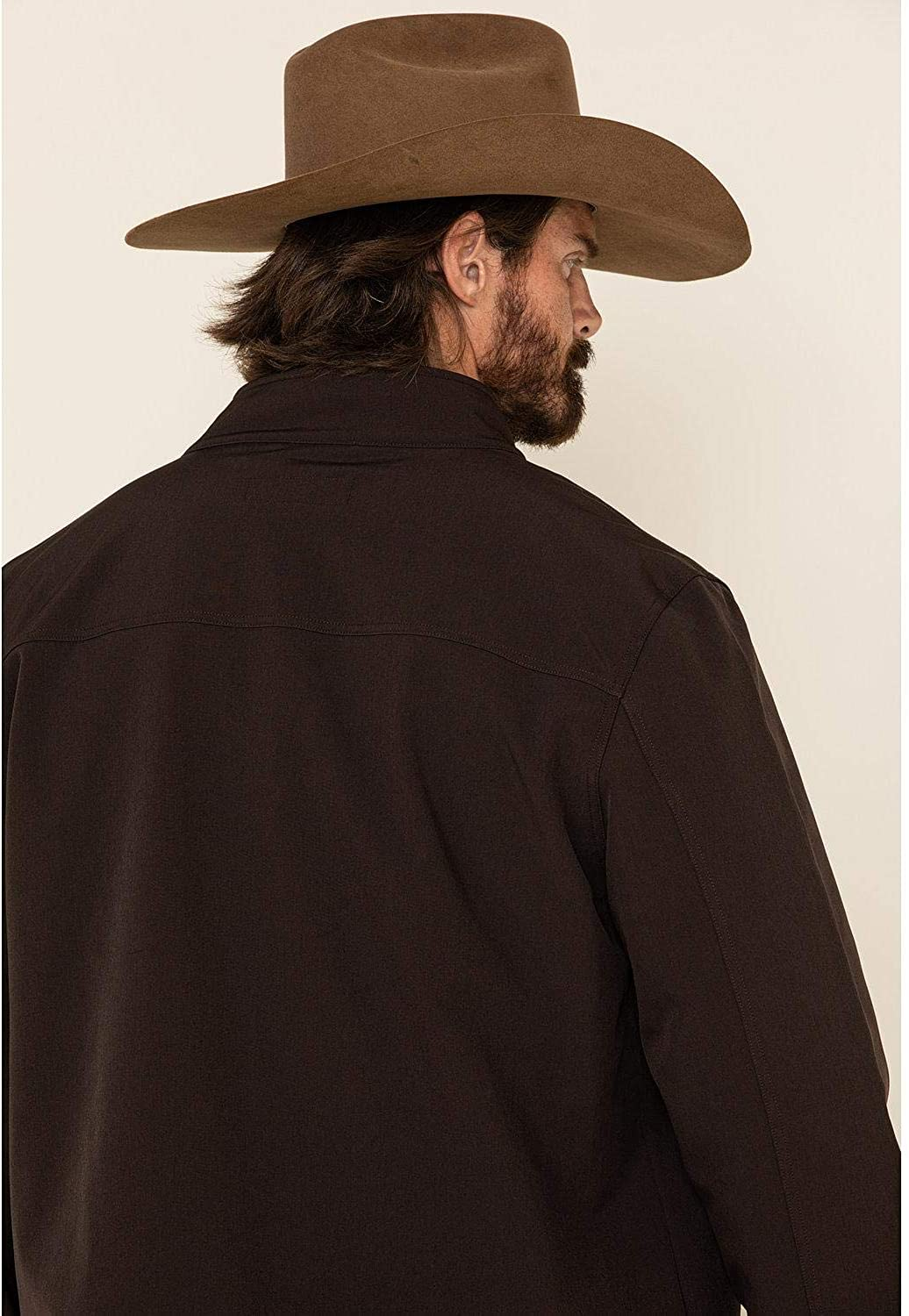 Cody James Men's Steamboat Softshell Bonded Zip Front Jacket Tall Brown XXX-Large Tall
