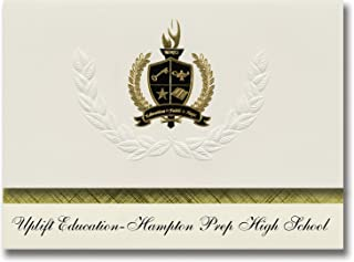 Signature Ankündigungen Kette education-hampton Prep High School (Dallas, TX) Graduation Ankündigungen, Presidential Elite Pack 25 mit Gold & Schwarz Metallic Folie Dichtung B078VL5R5G  Erste Qualität