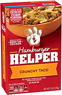 Betty Crocker Hamburger Helper, Crunchy Taco Hamburger Helper, 7.6 Oz Box (Pack of 12)