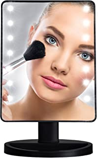 Small Vanity Mirror with Lights - 10.7 inches Dimmable Led Touch Screen Makeup Mirror as Portable Natural Daylight Lighted Makeup Mirror Battery Operated - Perfect Gift Idea for Every Woman