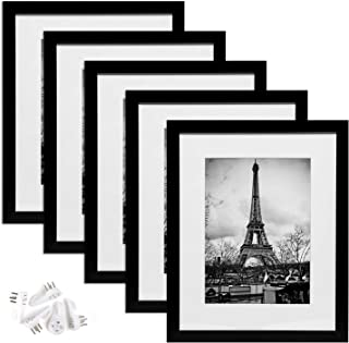 upsimples 11×14 Picture Frame Set of 5,Display Pictures 8×10 with Mat or..