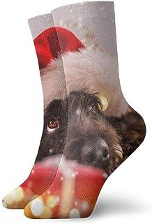 OUYouDeFangA, OUYouDeFangA - Calcetines cortos de algodón para perros de Navidad o invierno, para adultos, para yoga, senderismo, ciclismo, correr, fútbol