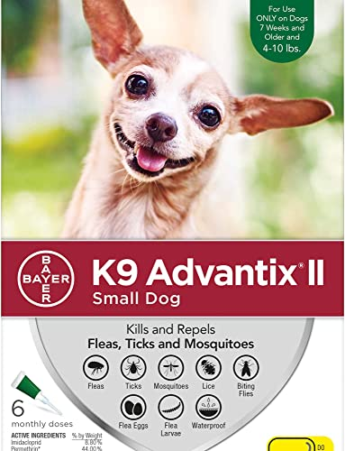 K9 Advantix II for Dogs 10 Pounds and Under – 6 Count