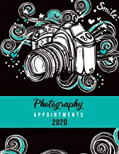 "Photography Appointments 2020: 8.5"" X 11"" hourly appointment book for photographer"