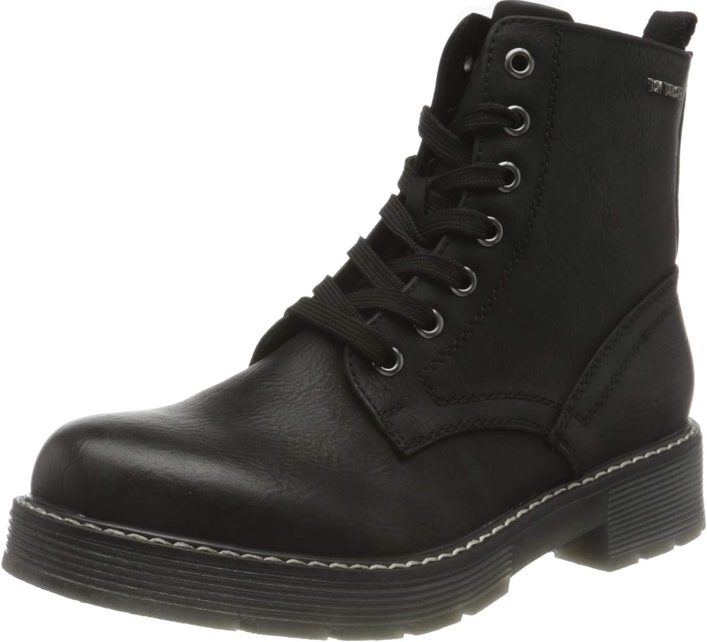 TOM TAILOR Women's Bootie Mid Calf Boot, Black, us 7.5