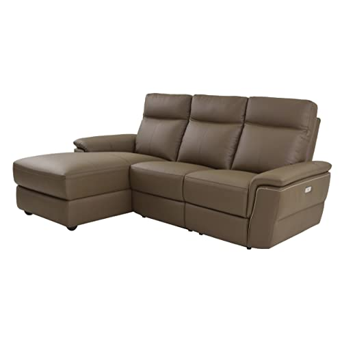 Leather Reclining Sectional Sofas: Amazon.com