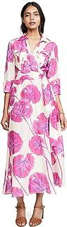 Diane von Furstenberg Women's Collared Floor Length Dress