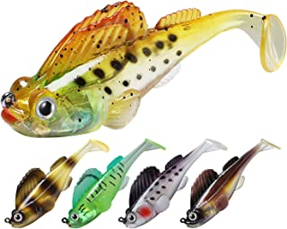 TRUSCEND Fishing Lures for Bass Trout 10/6PCS Jighead Lures Paddle Tail Swimbaits Soft Fishing Baits Freshwater Saltwater ...