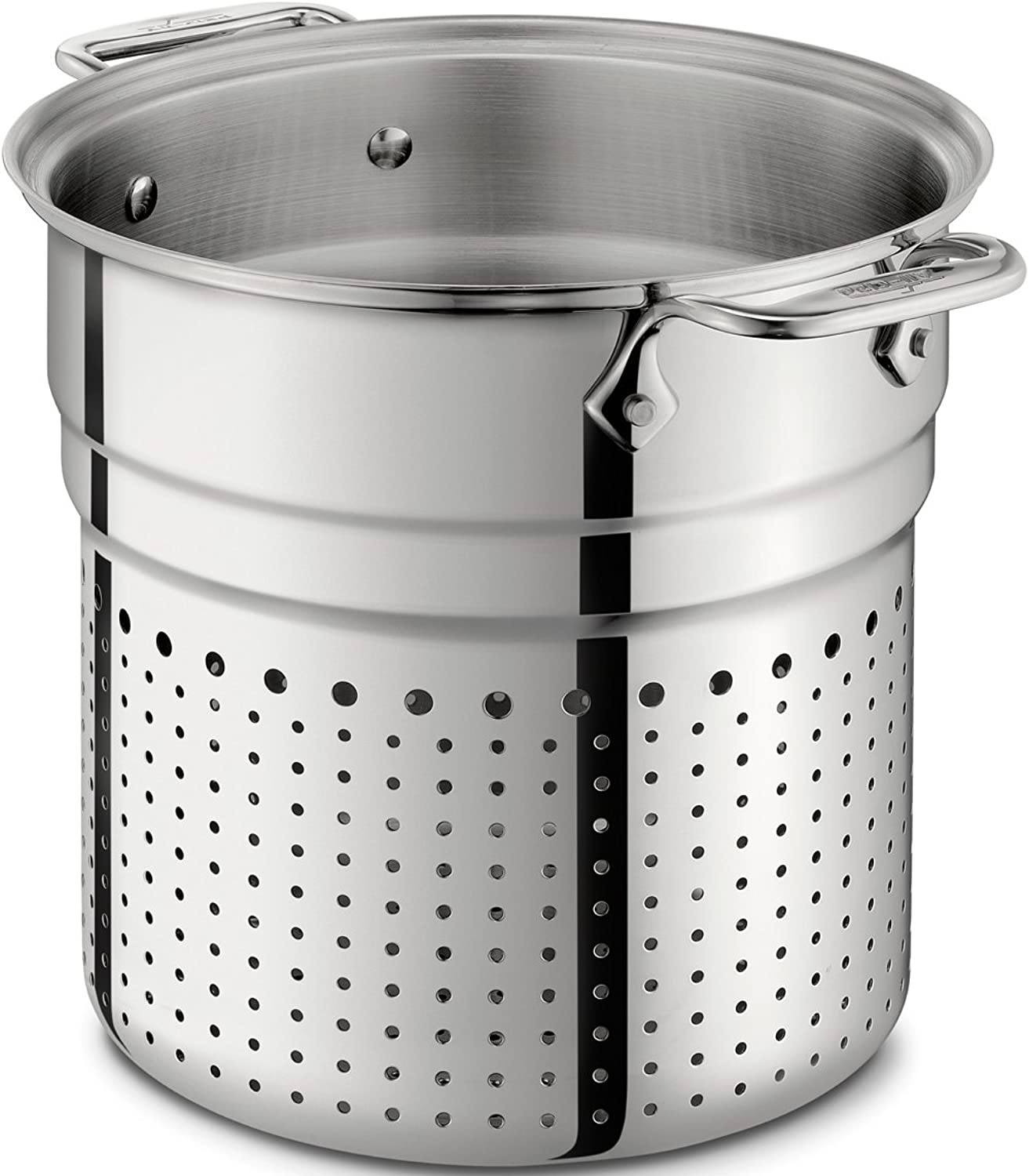 All-Clad 37072-I D Stainless Steel Tri-Ply Dishwasher Safe 7-Quart Pasta Colander Insert   Cookware, Silver