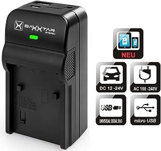 Baxxtar Razer 600 II - Compatible para Batería Canon LP-E6 LP-E6N Cargador 5en1- EOS 90D 80D 70D 60D 60Da 6D 7D Mark II 5DS 5D R 5D Mark II III IV con Salida USB para Recarga de Otros Dispositivos