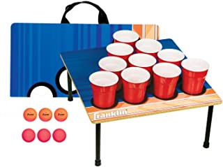Franklin Sports Portable 10 Cup Beer Pong Tailgate Game - Includes 6 Ping Pong Balls and Carry Case