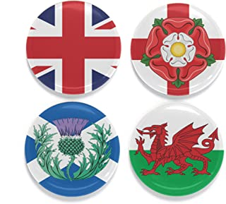 Buttonsmith UK Flags Magnet Set - Set of 4 1.25