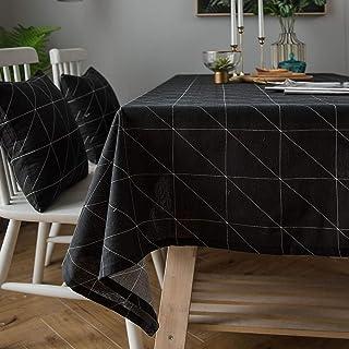YUANYOU Tovaglia rettangolare in cotone e lino, per interni ed esterni, per feste, compleanni, matrimoni, tovaglia lavabile