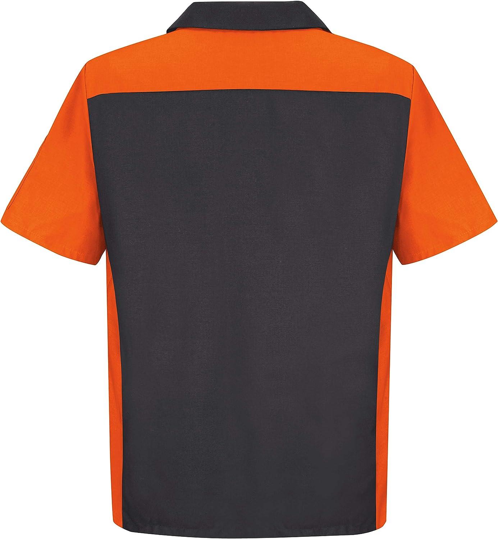 Red Kap Men's Short Sleeve Two-Tone Crew Shirt