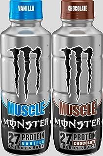 Monster Muscle Protein Energy Shake 12-15oz Bottles (2 Flaver Combo)